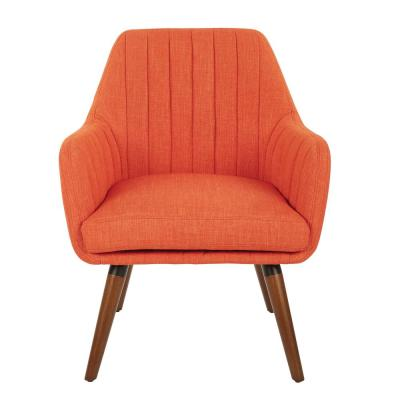 Mattie Tangerine Fabric Chair with Coffee Legs