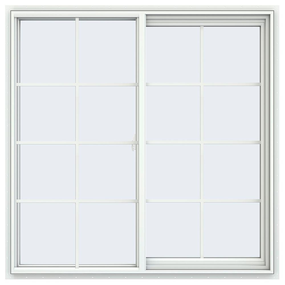 47.5 in. x 47.5 in. V-2500 Series Right-Hand Sliding Vinyl Window