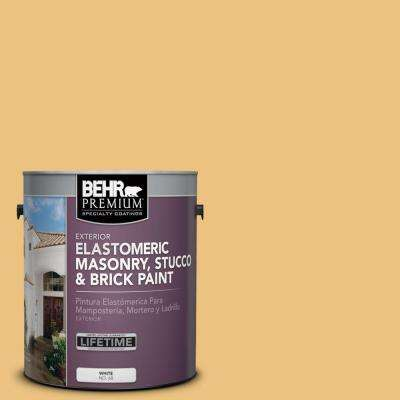 1 gal. #MS-36 Mayan Maize Elastomeric Masonry, Stucco and Brick Exterior Paint