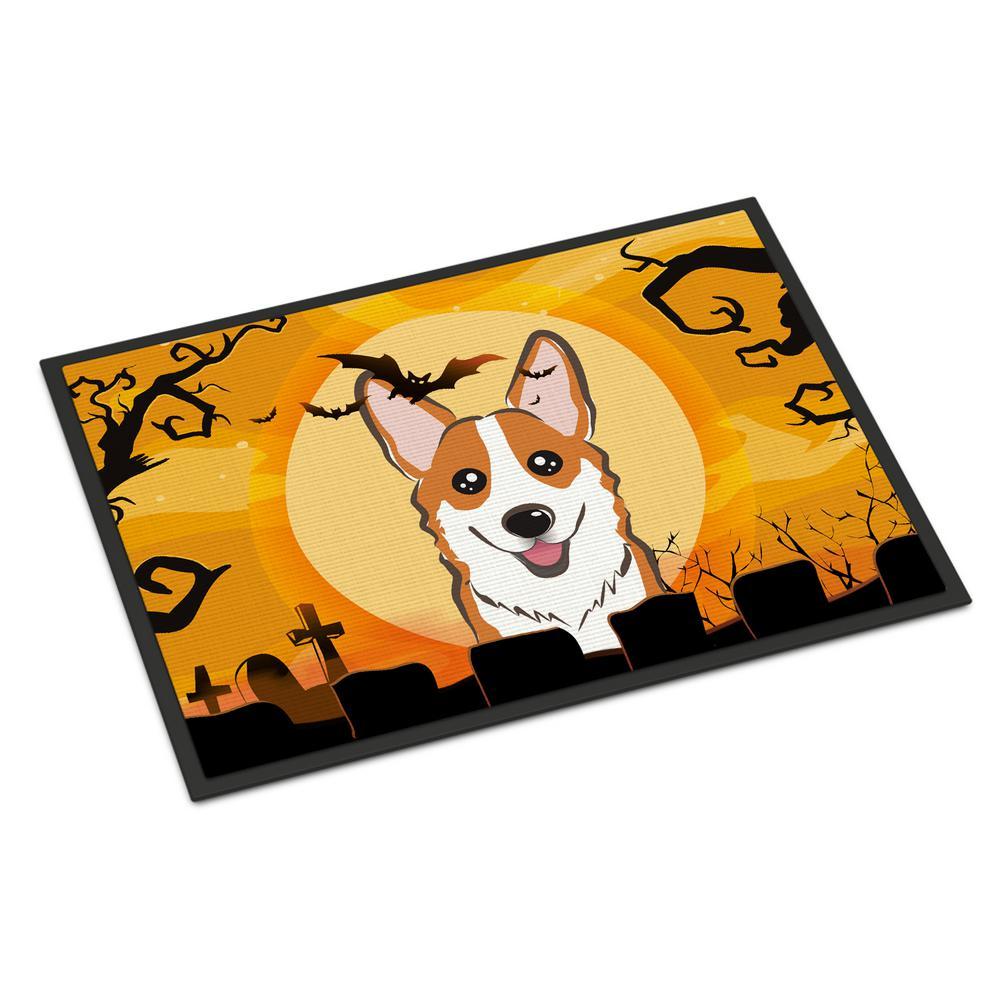 Carolines Treasures Watercolor Halloween Spiders Indoor or Outdoor Doormat 24 H x 36 W Multicolor