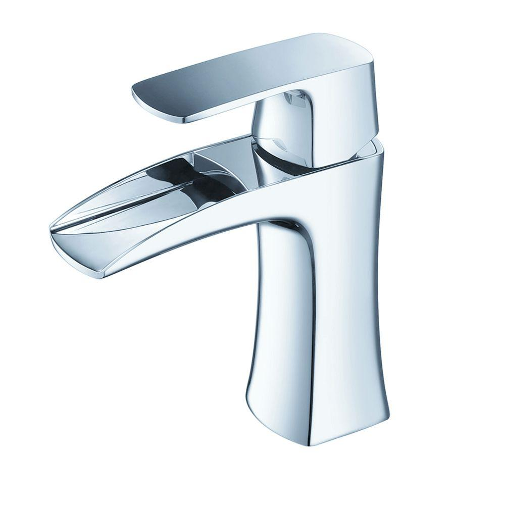 Fresca Fortore Single Hole 1 Handle Low Arc Bathroom Faucet In Chrome Fft3071ch The Home Depot