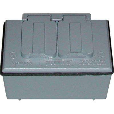 1/2 in. Weatherproof Duplex Outlet Kit - Gray