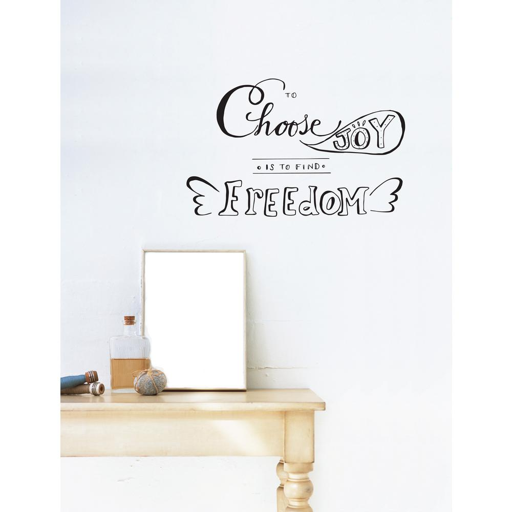 (24.4 in x 15.4 in) To Find Freedom Wall Decal