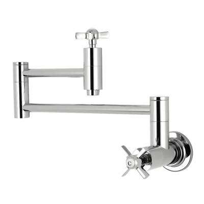 Millennium Wall-Mounted Potfiller Cross Handle in Polished Chrome