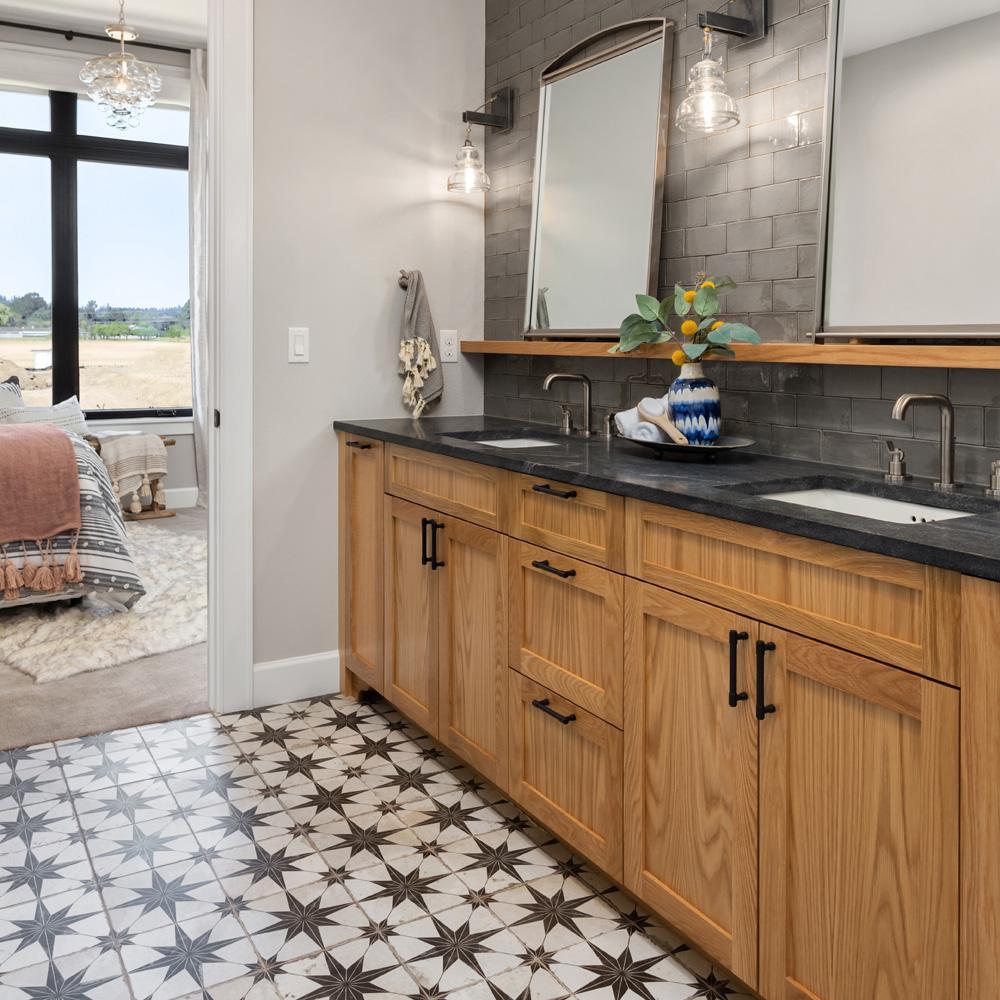 Merola Tile Kings Star Nero 17 5 8 In, Home Depot Bathroom Floor Tiles