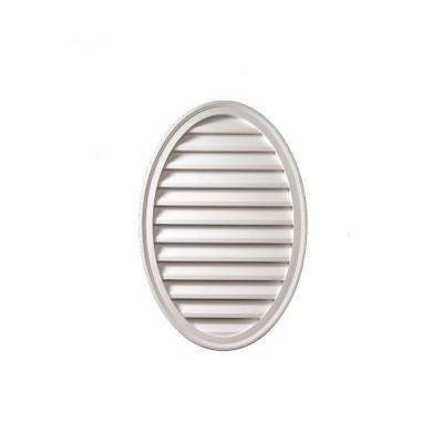 24-1/2 in. x 37 in. x 1-5/8 in. Polyurethane Decorative Oval Vertical Louver