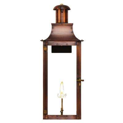 Natural gas outdoor lighting lighting the home depot copper outdoor natural gas wall lantern aloadofball Choice Image