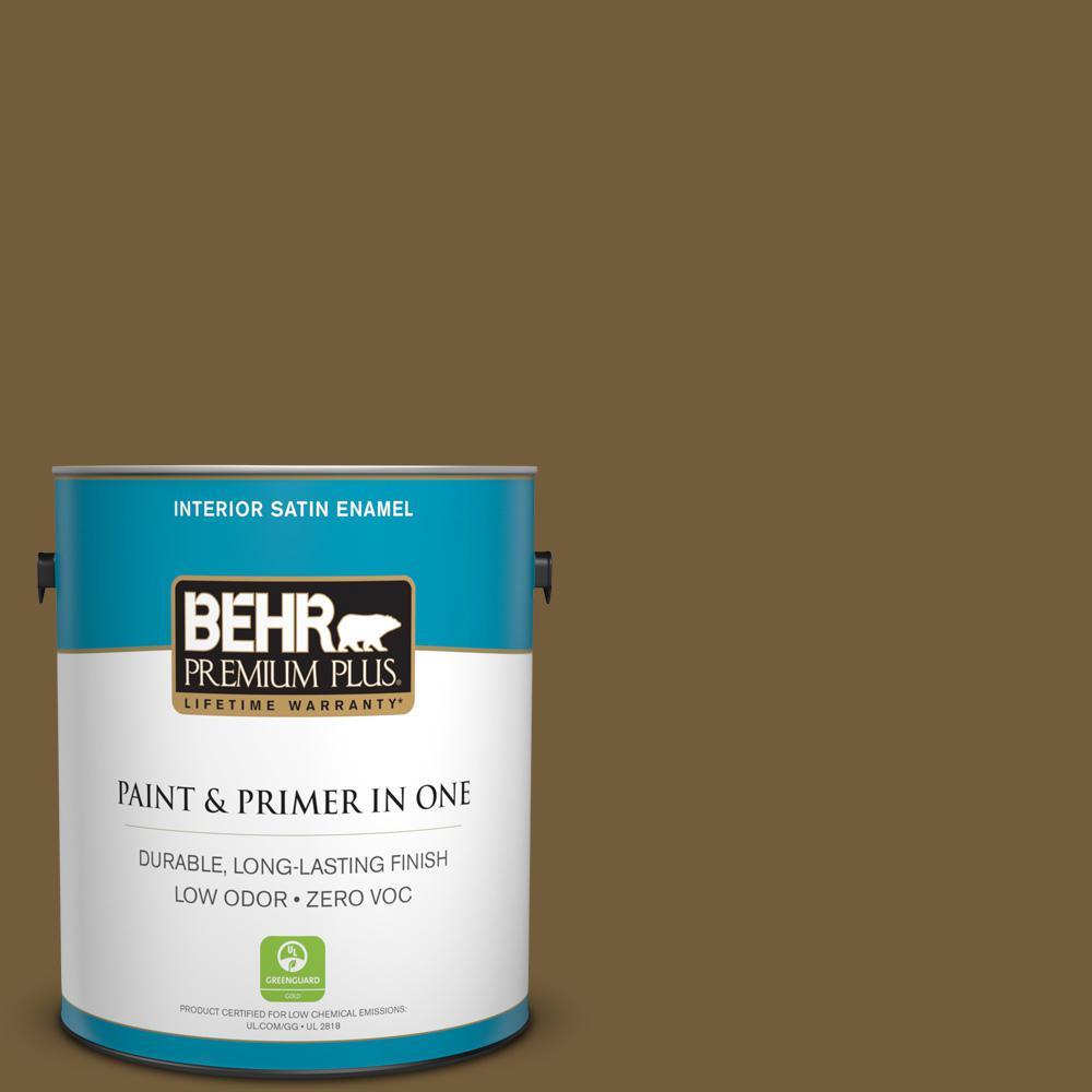 1 gal. #300F-7 Centaur Satin Enamel Zero VOC Interior Paint and