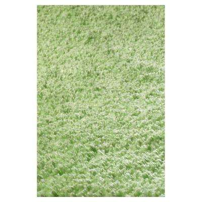 Cushy Shag Green 5 ft. x 7 ft. Area Rug