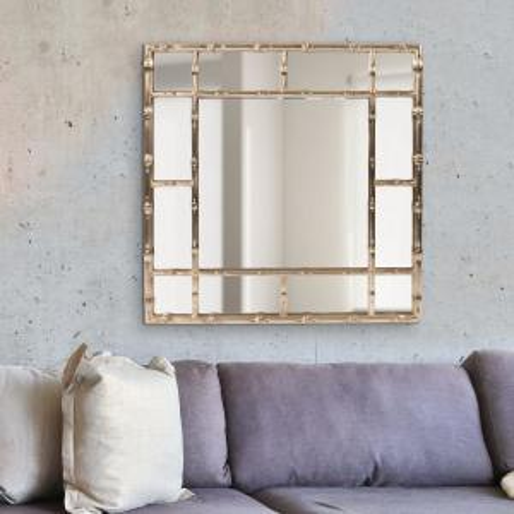 Fantastic Howard Elliott Bamboo Country Silver Decorative Mirror 92189 Download Free Architecture Designs Scobabritishbridgeorg