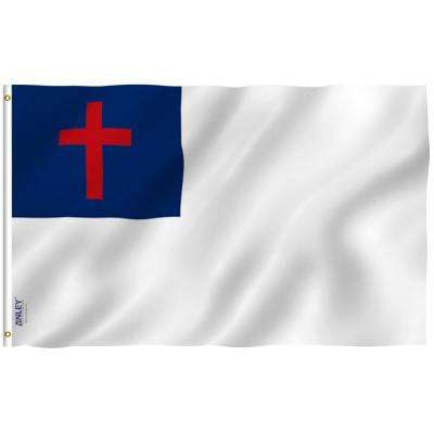 Fly Breeze 3 ft x 5 ft Polyester Christian Flag 2-Sided Flags Banner with Brass Grommets and Canvas Header