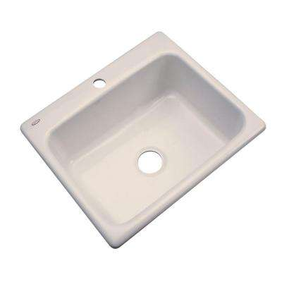 Inverness Drop-In Acrylic 25 in. 1-Hole Single Bowl Kitchen Sink in Desert Bloom