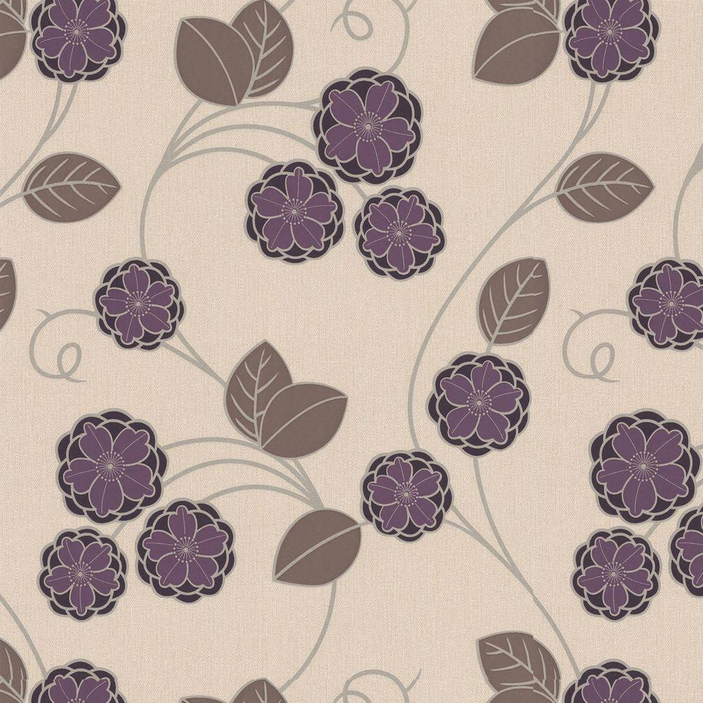 Graham & Brown 56 sq. ft. Horizon Purple Wallpaper