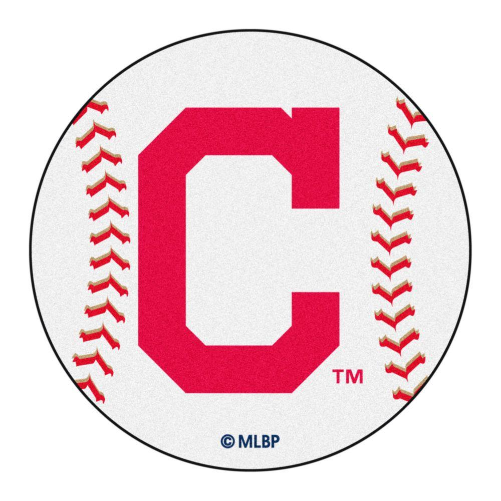 FANMATS MLB Cleveland Indians White 2 Ft. 3 In. X 2 Ft. 3