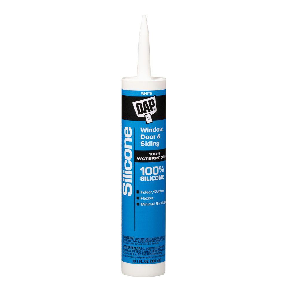 DAP 10.1 oz. White Silicone Sealant