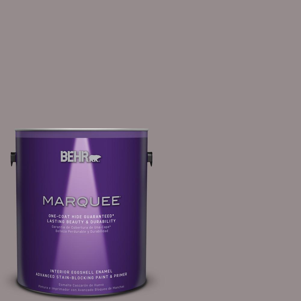 1 gal. #T18-03 Graylac Eggshell Enamel Interior Paint