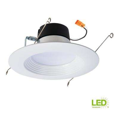 LT 5 in. and 6 in. White Integrated LED Recessed Ceiling Light Retrofit Trim at 3000K Soft White