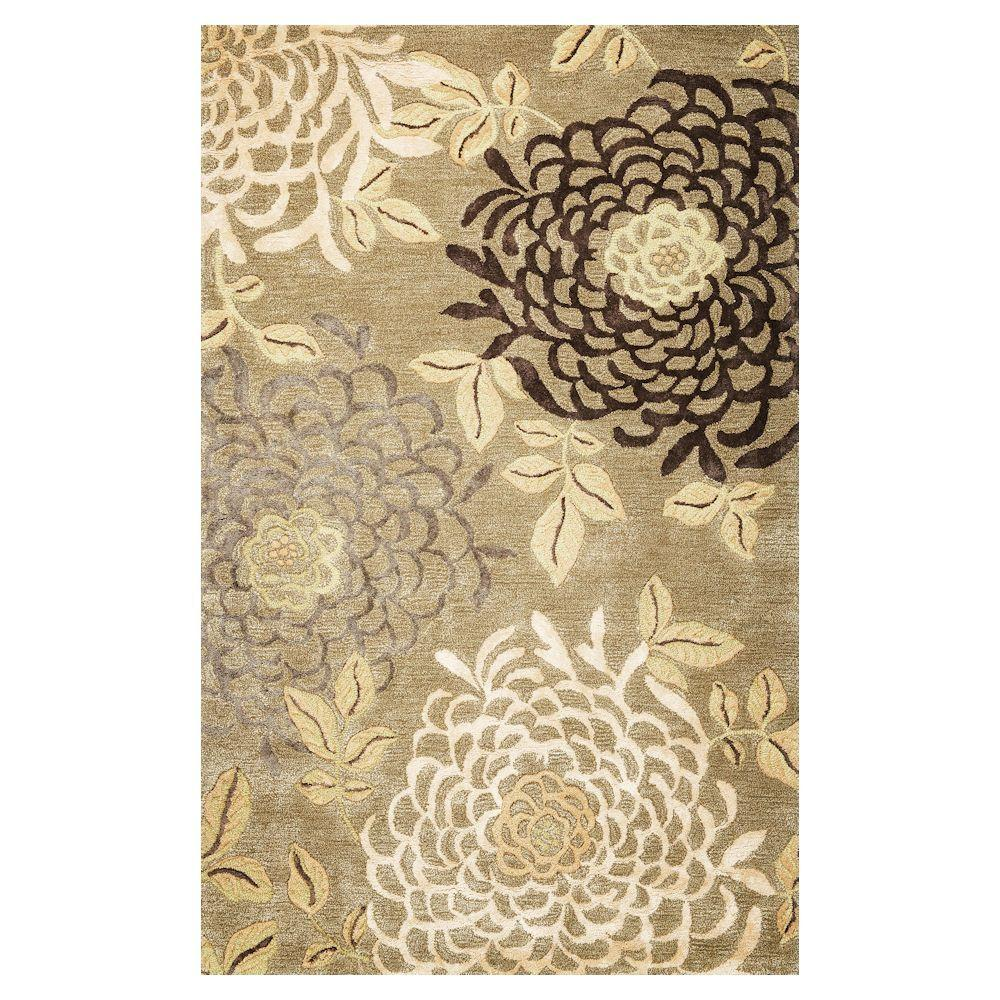 Kas Rugs Awesome Mum Sage 8 ft. x 10 ft. Area Rug