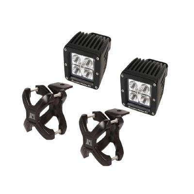 2.25 in. to 3 in. X-Clamp Light Mount and 3 in. Square LED Light Kit (2-Pack)
