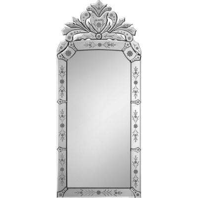 Luna 19 in. x 43 in. Traditional Framed Mirror