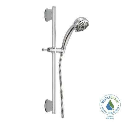 5-Spray Handheld Showerhead with Slide Bar in Chrome