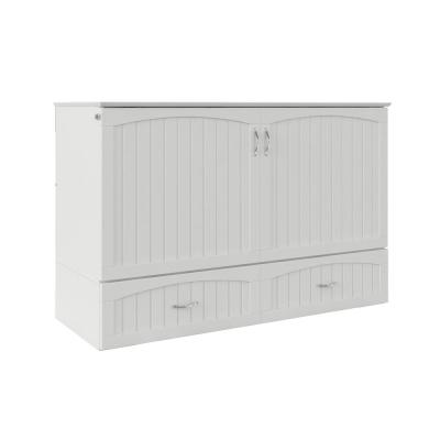 Southampton Murphy Bed Chest Queen White with Charging Station