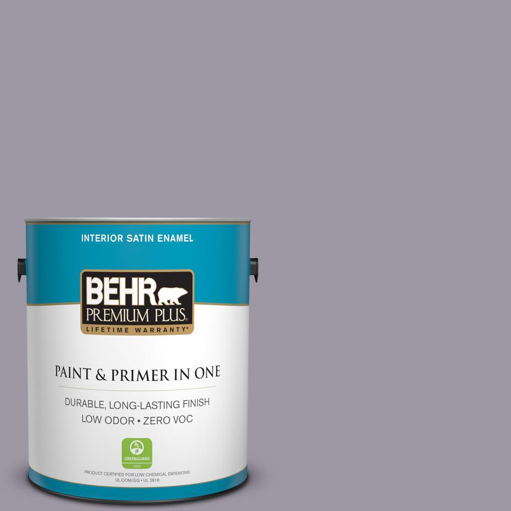 BEHR Premium Plus 1-gal. #N100-4 Fortune Satin Enamel Interior Paint