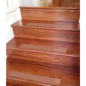 Ottomanson Safety Treads Clear 4 In. X 26 In. PEVA Plastic Stair Tread  Cover PST1000 14   The Home Depot
