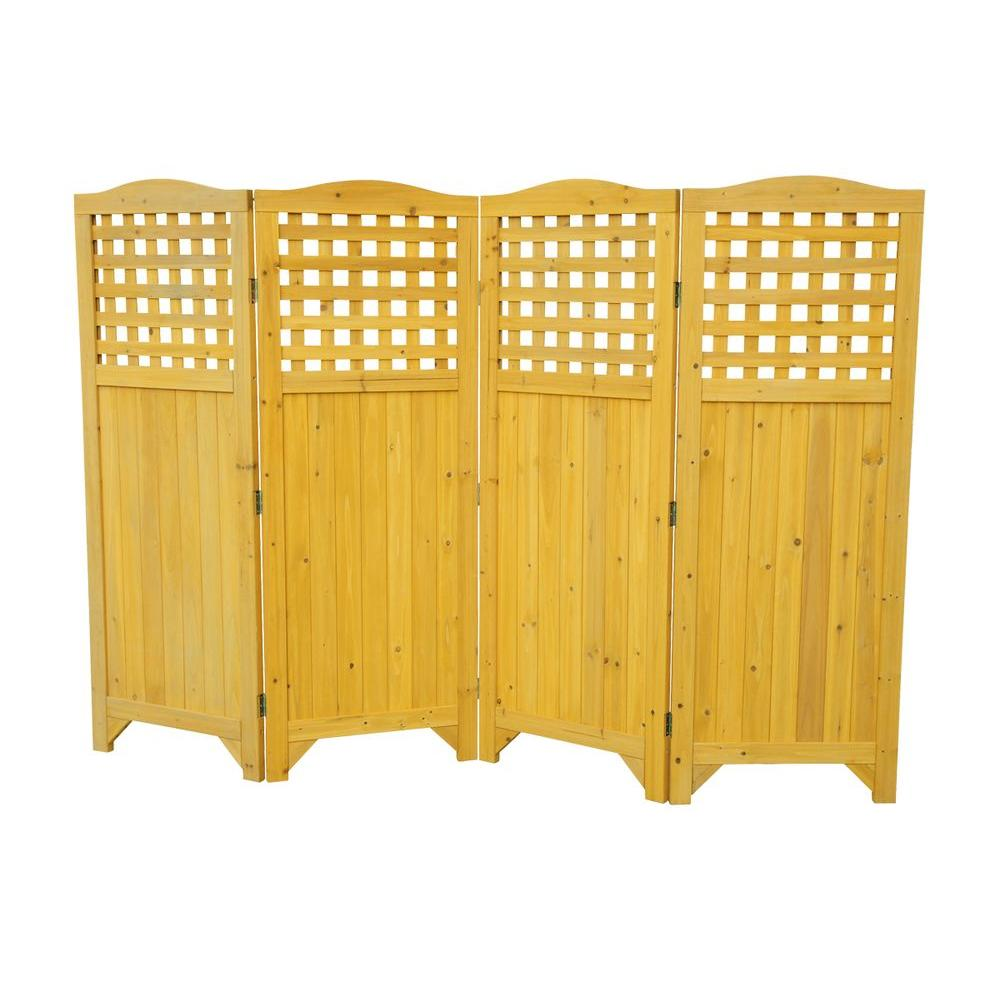 Leisure Season Folding Patio and Garden Privacy Screen-PS9662 - The ...
