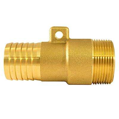 1 in. Barb x 1-1/4 in. Male Pipe Thread Brass Rope Adapter