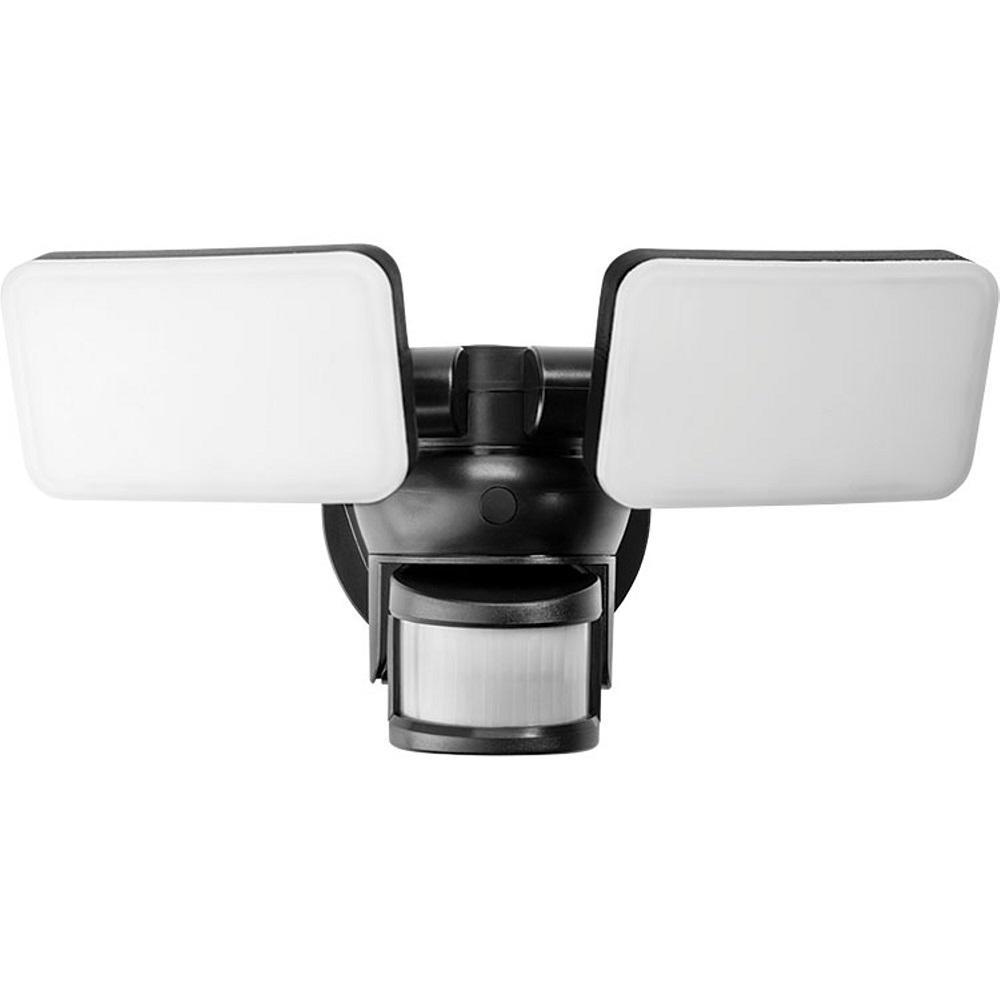 Maximus 24-Watt 120-Degree Black Motion Activated Outdoor Integrated LED Thin Flood Light