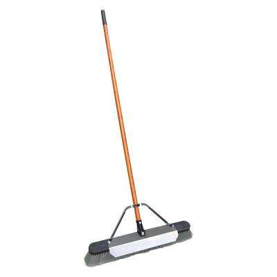24 in. Pushbroom with Scraper