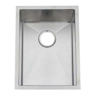 Professional Undermount Stainless Steel 15 in. 0-Hole Bar/Prep Sink