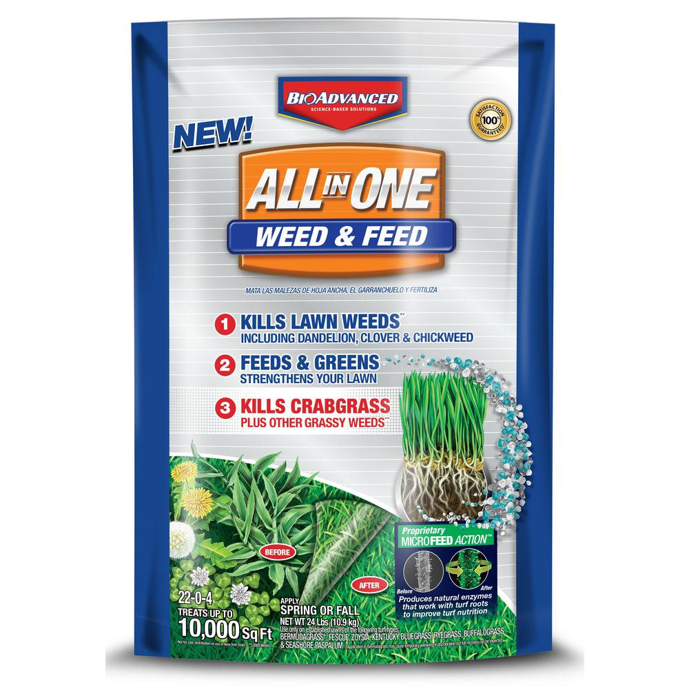 Feed: BioAdvanced 24 Lb. All-in-One Weed And Feed Granules