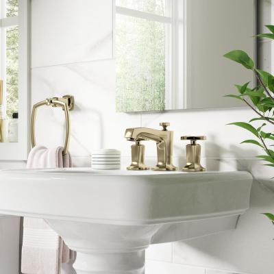 Margaux 8 in. Widespread 2-Handle Water-Saving Bathroom Faucet in Vibrant French Gold