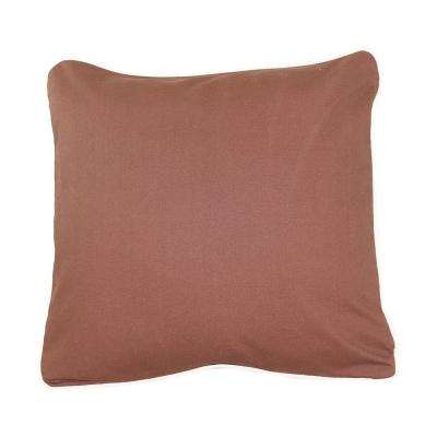 20 in. x 20 in. Brown  Standard Pillow with Green Eco Friendly Insert