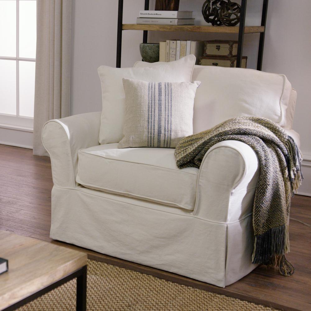 Bon Internet #207080670. +9. Home Decorators Collection Mayfair Classic Natural  Fabric Arm Chair