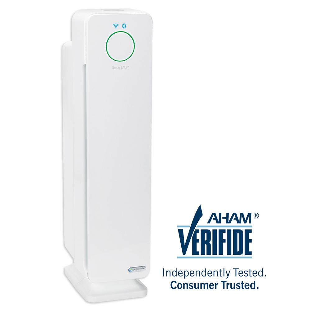 GermGuardian Smart Elite 4-in-1 Air Purifier with True HEPA Filter, UV Sanitizer, Odor Reduction, Wi-Fi, 28 in. Tower