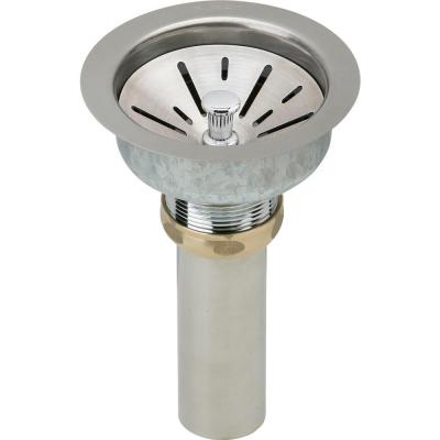 3.5 in. Kitchen Sink Drain with Strainer Basket and Tailpiece for Fireclay Sinks