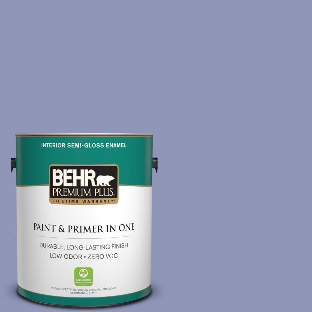 BEHR Premium Plus 1-gal. #BIC-20 Lively Lilac Semi-Gloss Enamel Interior Paint