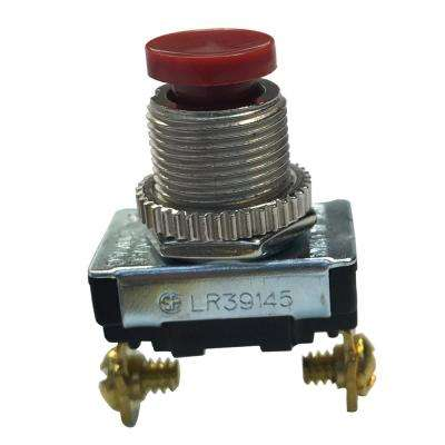 3 Amp 120-Volt AC SPST Momentary Contact Push-Button Switch, Red (Case of 5)