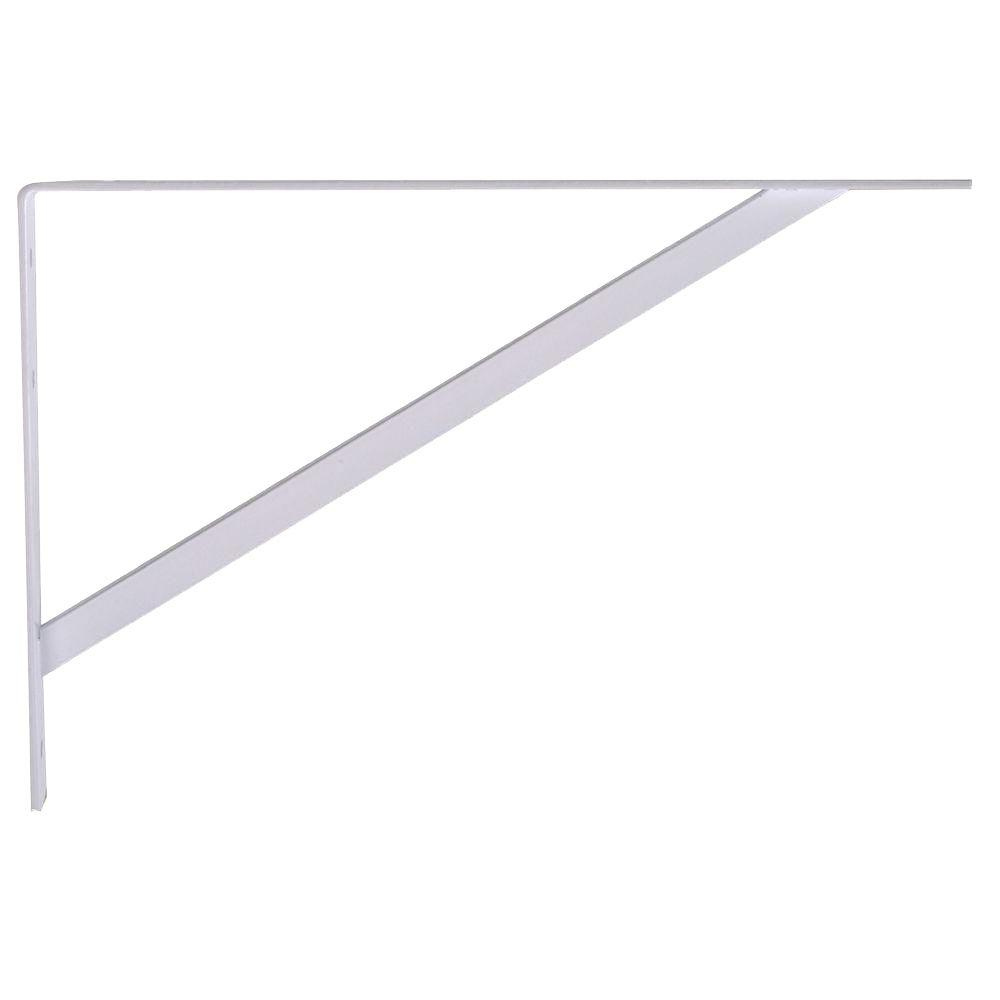 12 in. White Super Strength Shelf Bracket (6-Pack)