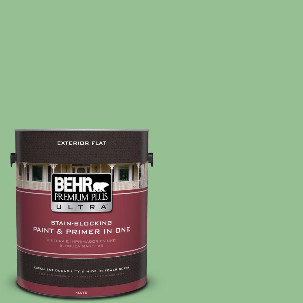 BEHR Premium Plus Ultra 1-gal. #450D-5 Velvet Leaf Flat Exterior Paint