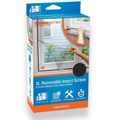 PermaStik XL Removable Insect Screen, 78.7 in x 78.7 in, Or cut down to suit smaller size, Adhesive Mounting