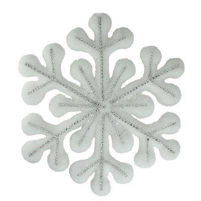 15 in. White Glitter Snowflake Hanging Christmas Decoration