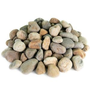 1.0 cu. ft. 1 in. to 2 in. Buff Mexican Beach Pebble Smooth Round Rock for Gardens, Landscapes and Ponds