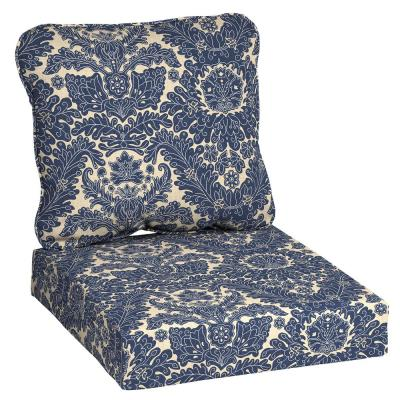 Chelsea Damask Deep Seating Outdoor Lounge Chair Cushion