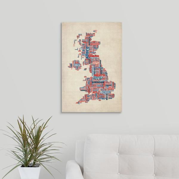 Map of uk with cities