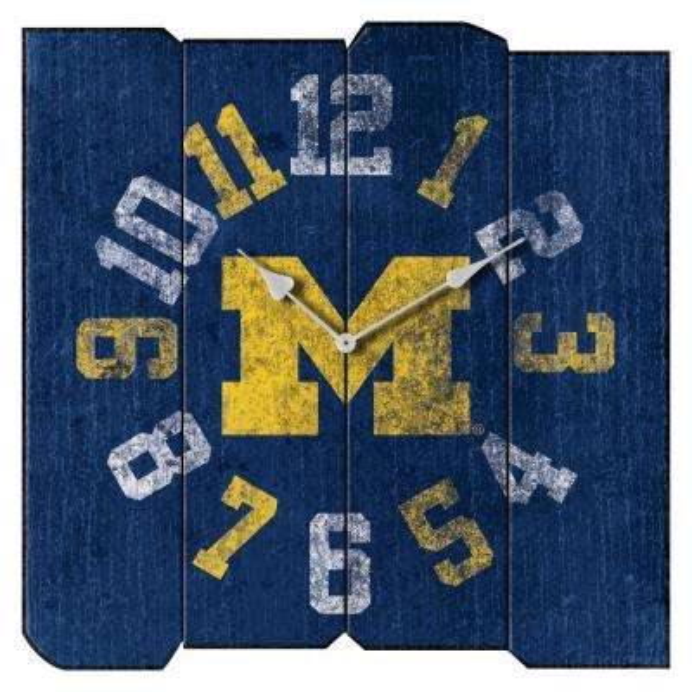 University of Michigan Vintage Square Clock