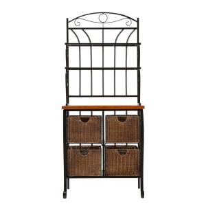 southern enterprises stewart black baker s rack hd888224 the home rh homedepot com